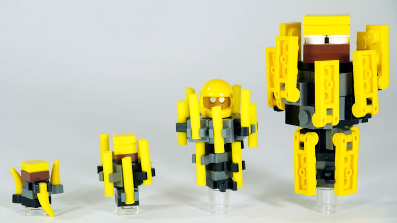 Still image from: How to Build LEGO Minecraft Blaze