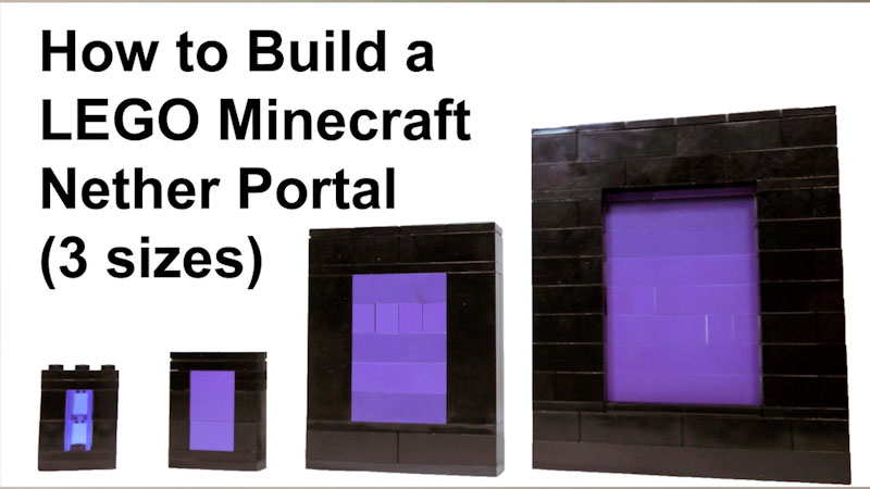 Still image from: How to Build LEGO Minecraft Nether Portal