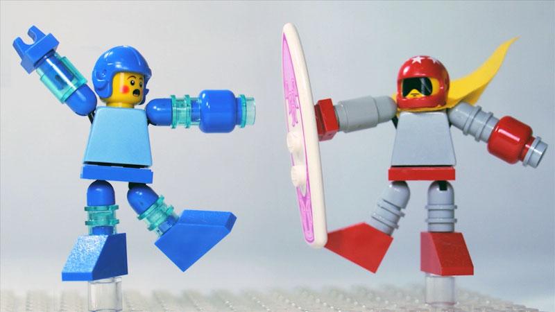 Still image from: How to Build LEGO Mega Man & Proto Man