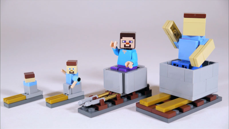 Still image from: How to Build LEGO Minecraft Minecart & Rails