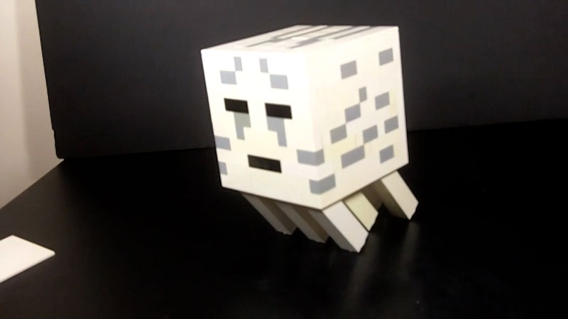 Still image from: How to Build LEGO Minecraft Ghast