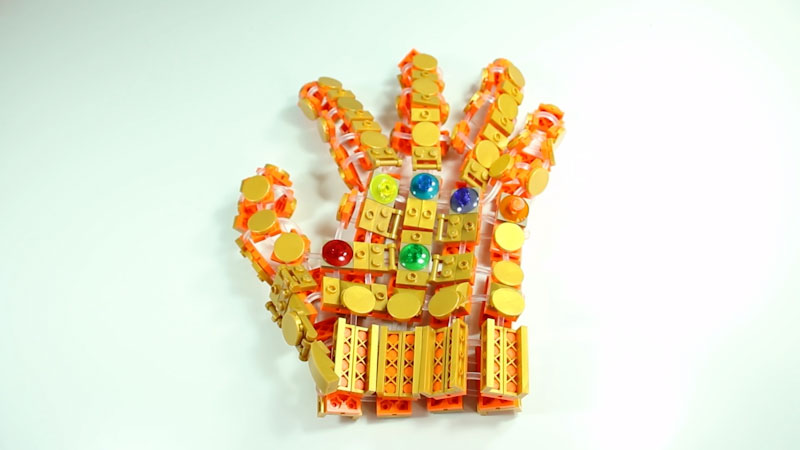 Still image from: How to Build LEGO Infinity Gauntlet