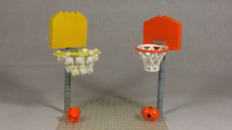 Still image from: How to Build a LEGO Basketball Hoop