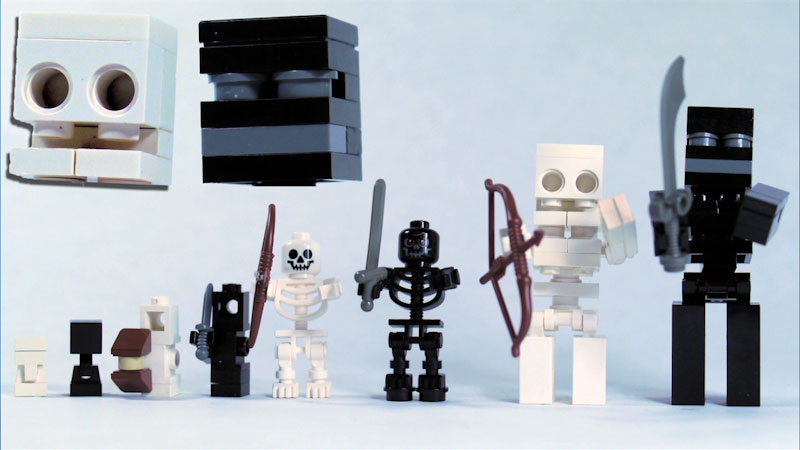 Still image from: How to Build LEGO Minecraft Skeleton & Wither Skeleton