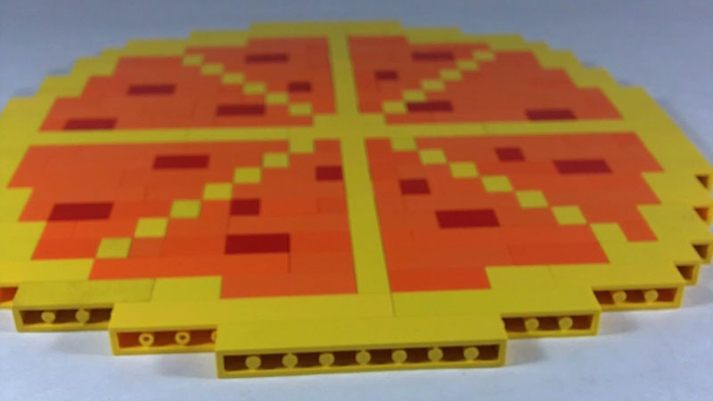 Still image from: How to Build LEGO Pizza