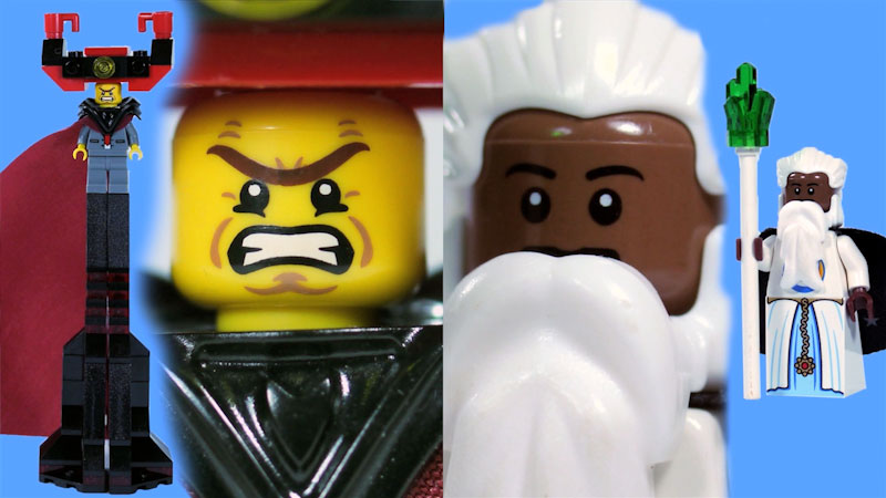 """Still image from: How to Build LEGO Lord Business & Vitruvius From """"The Lego Movie"""""""