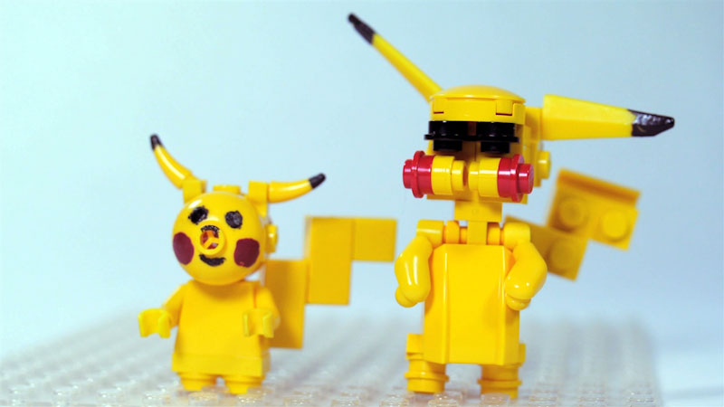 Still image from: How to Build LEGO Pikachu
