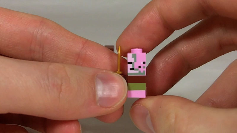 Still image from: How to Build LEGO Minecraft Zombie Pigman