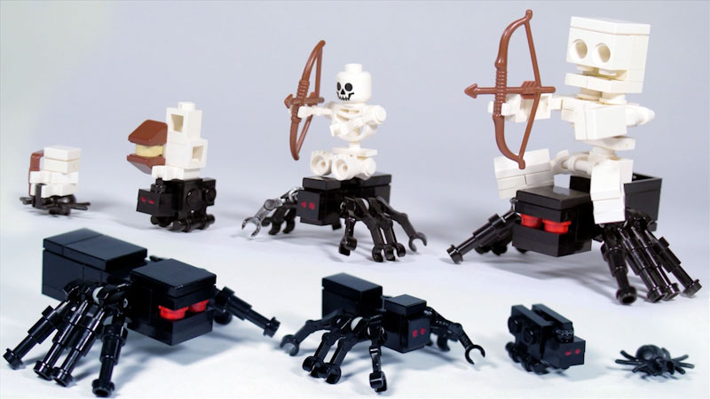 Still image from: How to Build LEGO Minecraft Spiders & Spider Jockey