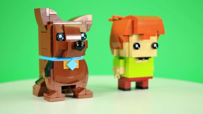 Still image from: How to Build LEGO Scooby Doo and Shaggy BrickHeadz
