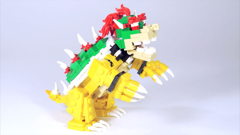 Still image from: How to Build LEGO Bowser