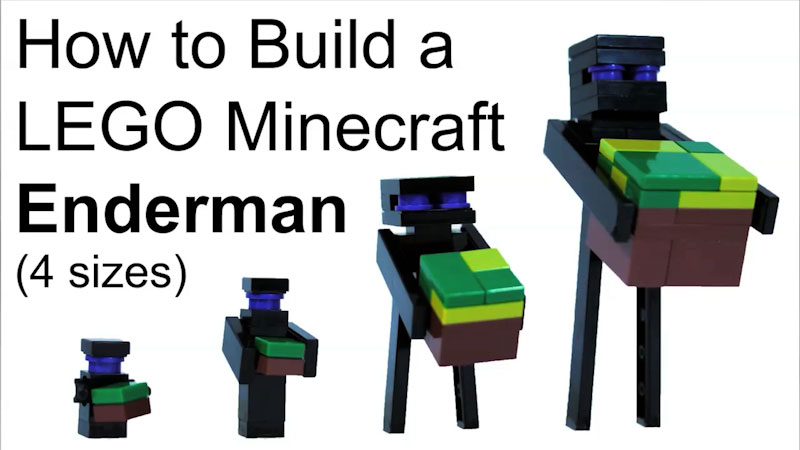 Still image from: How to Build LEGO Minecraft Enderman