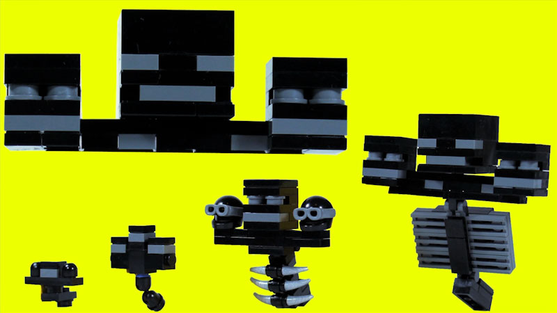 Still image from: How to Build LEGO Minecraft Wither
