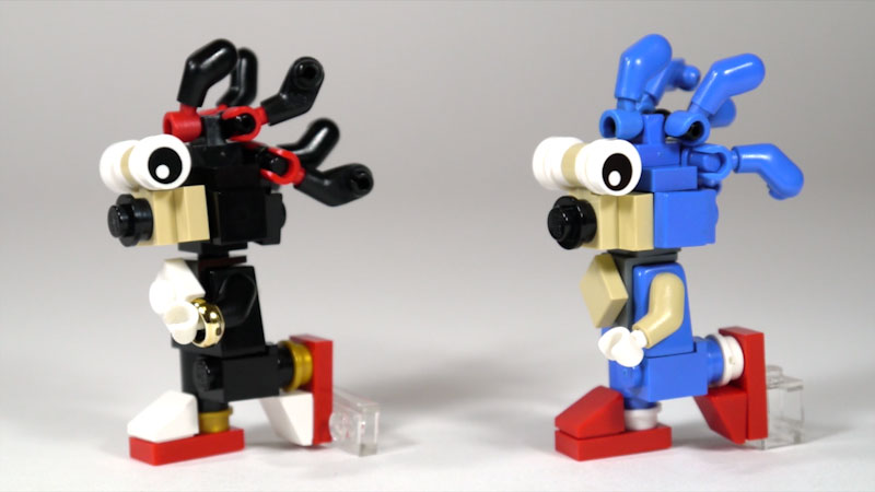 Still image from: How to Build LEGO Shadow & Sonic the Hedgehog