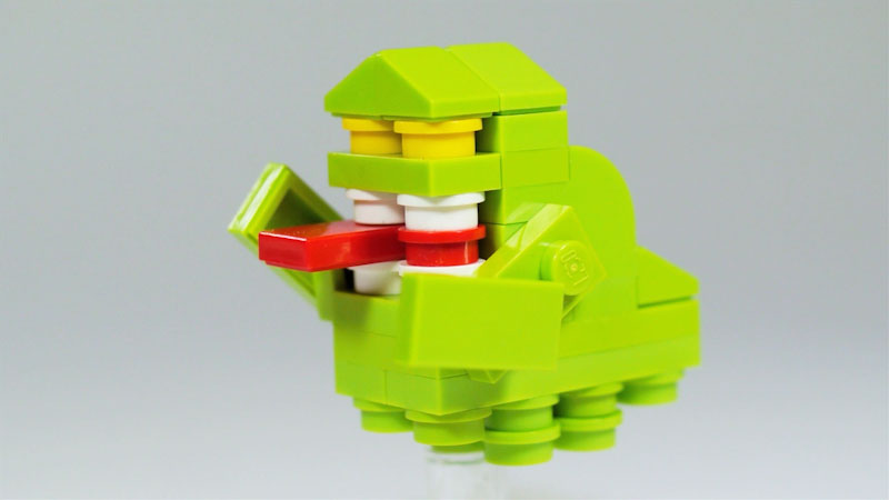Still image from: How to Build LEGO Ghostbusters Slimer