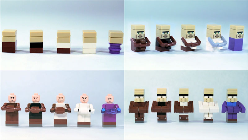 Still image from: How to Build LEGO Minecraft Villagers