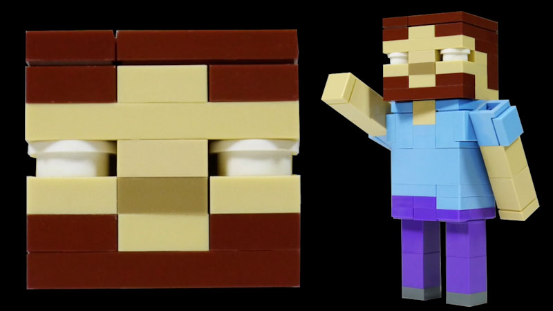 Still image from: How to Build LEGO Minecraft Herobrine