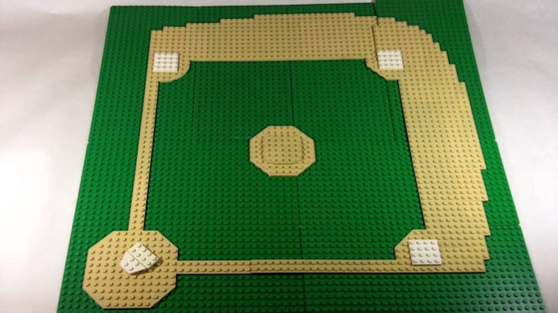 Still image from: How to Build a LEGO Baseball Field