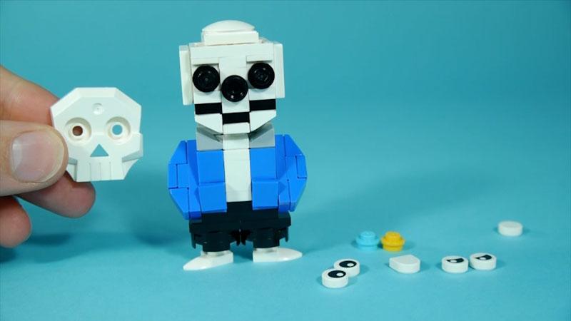 Still image from: How to Build LEGO Undertale Sans and Papyrus