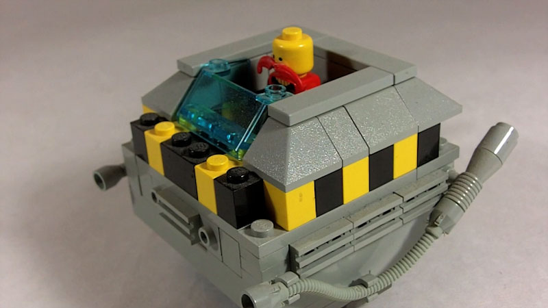 Still image from: How to Build LEGO Dr. Robotnik and his Eggmobile