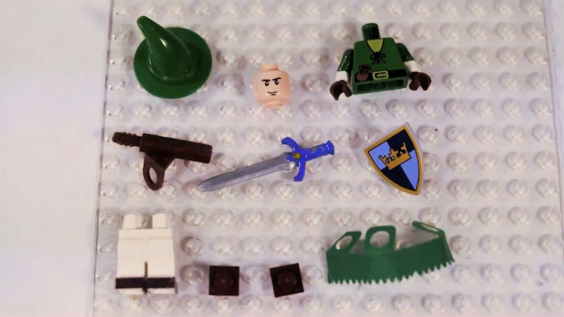 Still image from: How to Build LEGO Link from Legend of Zelda