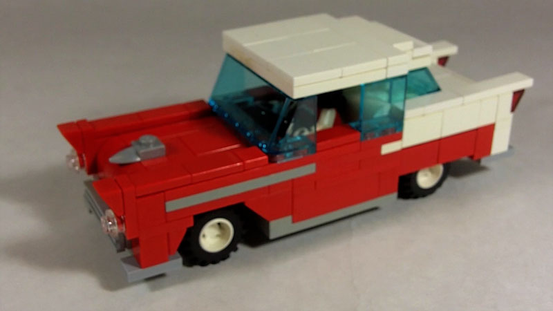 Still image from: How to Build LEGO 1955 Chevy Bel Air Coupe