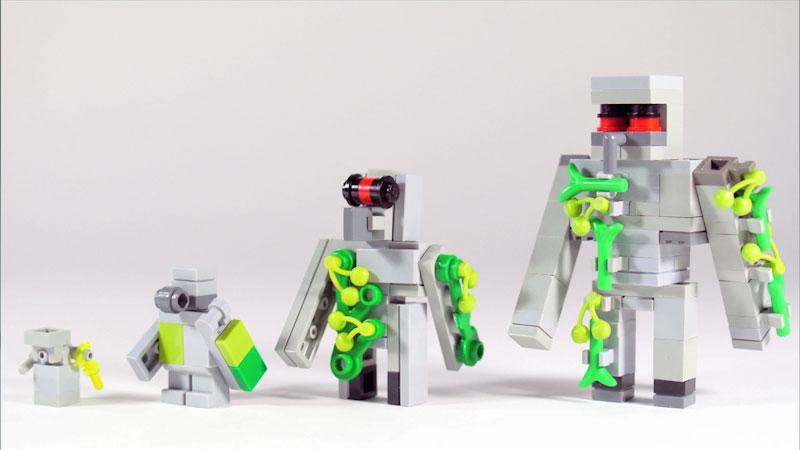 Still image from: How to Build LEGO Minecraft Iron Golem