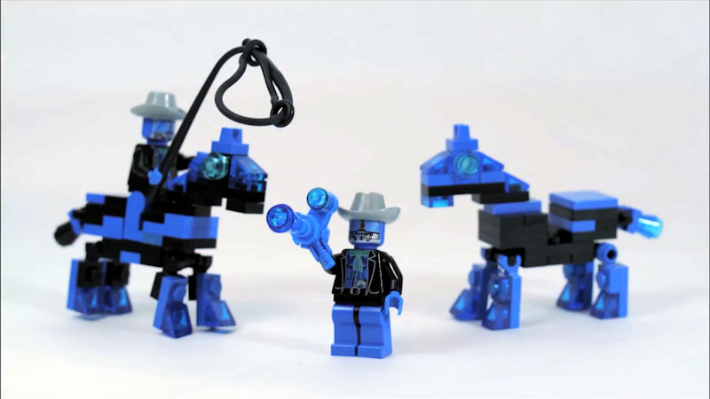 Still image from: How to Build LEGO Cowboybots