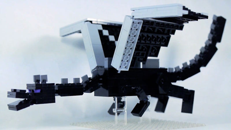 Still image from: How to Build LEGO Minecraft Ender Dragon (Part 2)