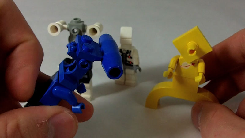 Still image from: How to Build LEGO Aliens