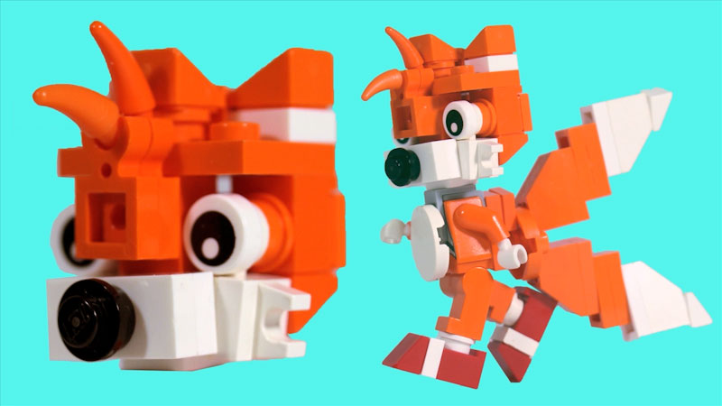 Still image from: How to Build LEGO Tails