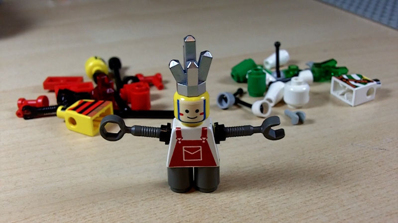 Still image from: How to Build LEGO ROBOphelia