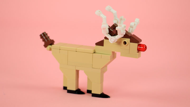 Still image from: How to Build a LEGO Reindeer (Rudolph)