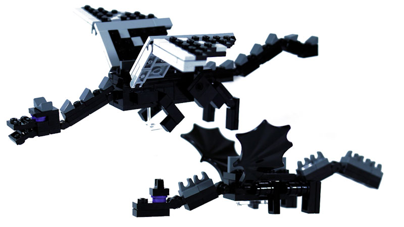 Still image from: How to Build LEGO Minecraft Ender Dragon (Part 1)