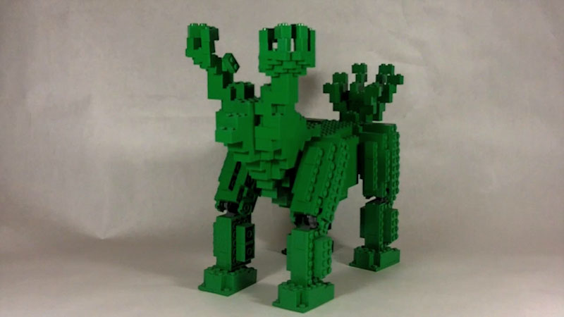 Still image from: How to Build Giant LEGO Monster (Soccersaurus)