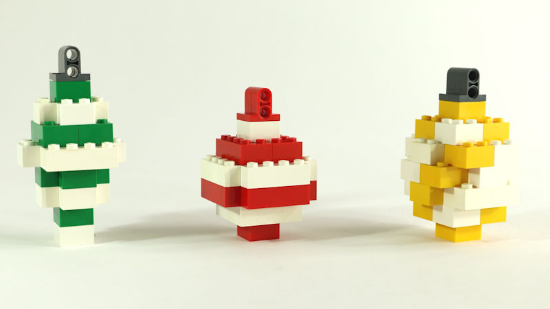 Still image from: How to Build LEGO Christmas Ornaments
