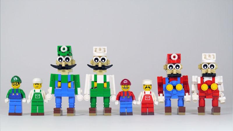 Still image from: How to Build LEGO Luigi (Featuring Mario, Link & Mega Man)