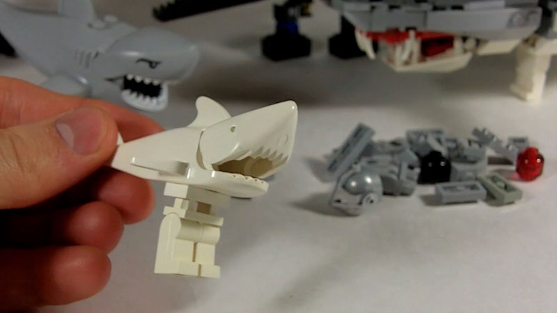 Still image from: How to Build a LEGO Legshark