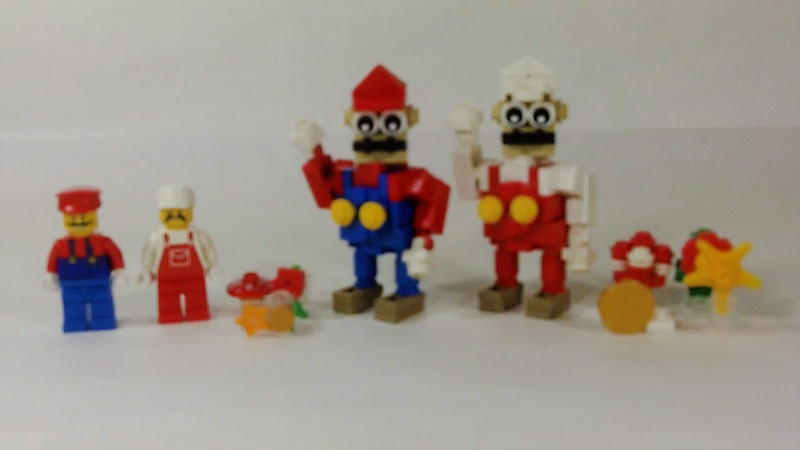 Still image from: How to Build LEGO Super Mario & Fire Mario