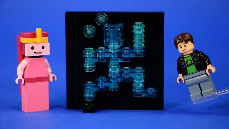Still image from: How to Build LEGO Scott Cawthon, MatPat, & Princess Bubblegum