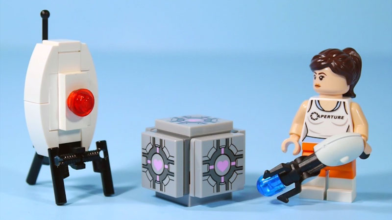 Still image from: How to Build LEGO Portal Turret