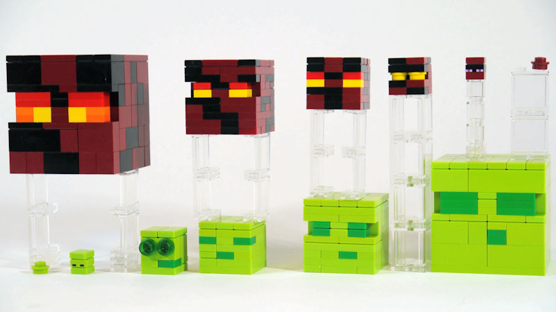 Still image from: How to Build LEGO Minecraft Slime & Magma Cube