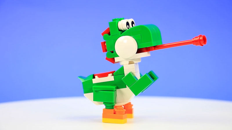 Still image from: How to Build LEGO Yoshi