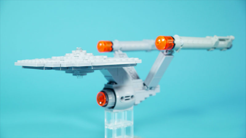 Still image from: How to Build LEGO Space Ship USS Enterprise From Star Trek