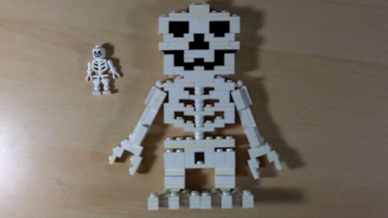 Still image from: How to Build a LEGO Skeleton