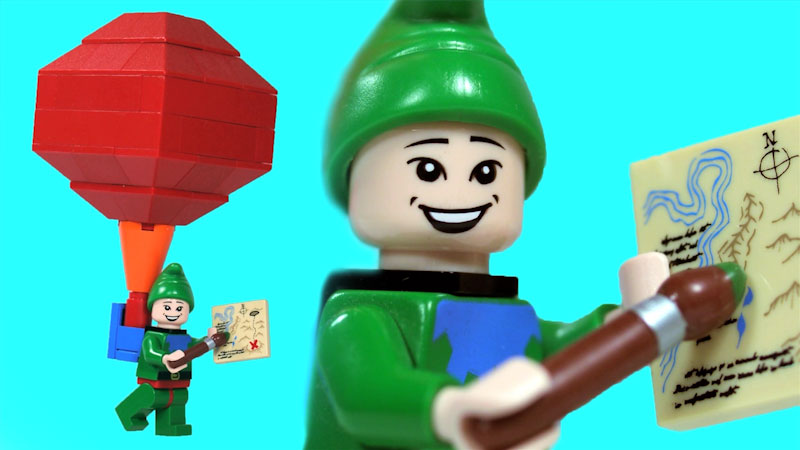 Still image from: How to Build LEGO Tingle From Legend of Zelda