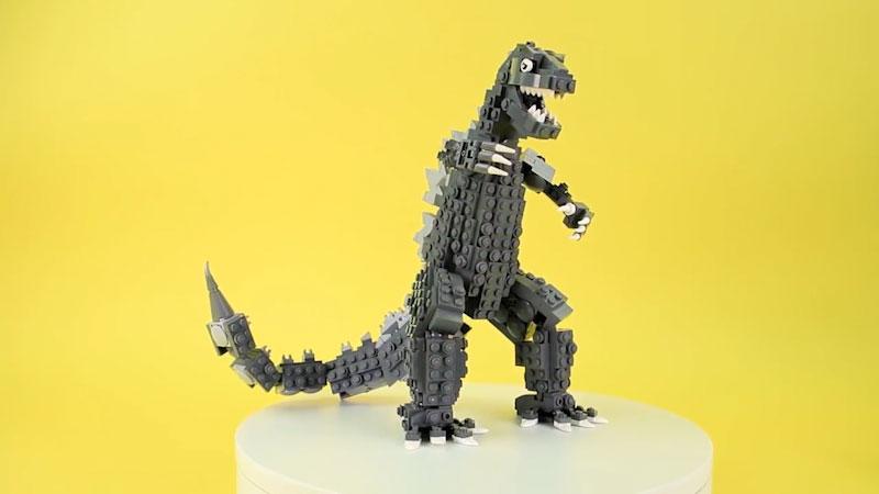 Still image from: How to Build LEGO Godzilla