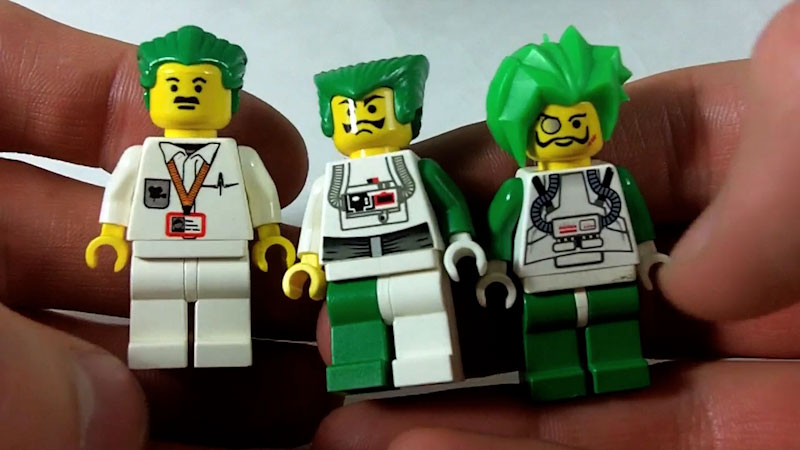 Still image from: How to Build LEGO Villains (SVELT)