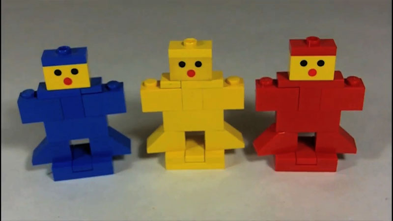 Still image from: How to Build LEGO Gingerbread Men