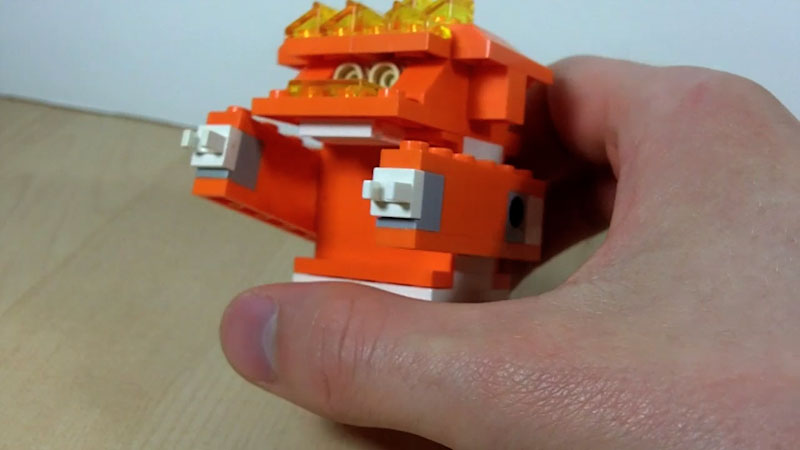 Still image from: How to Build an Orange LEGO Gorilla